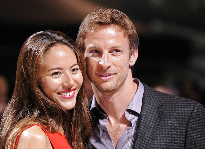 Jenson Button og Jessica Michibata.