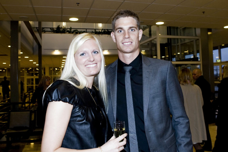 Her ses Jonas Borring med Kira, dengang de stadig var sammen til sportsgalla 2008