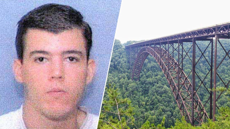 Her ses Robert Kovack og New River Gorge Bridge, hvor det, som politiet mener, er, hans lig blev fundet torsdag.