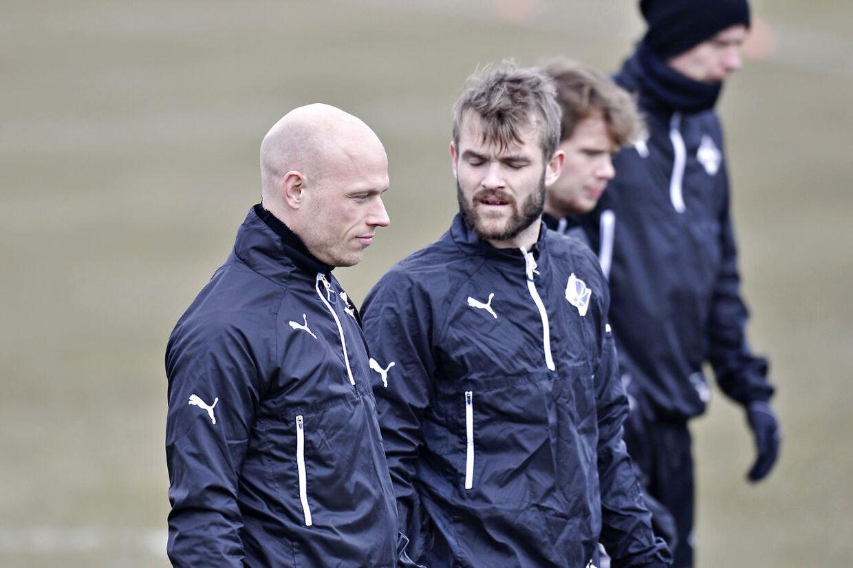 Christian Keller sammen med Mads Fenger, ny Randers FC-anfører i stedet for Christian Keller.