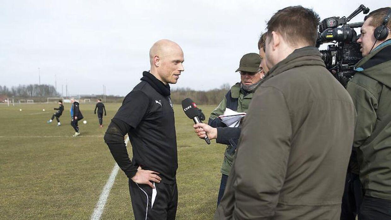 Christian Keller var tilbage på banen da Randers FCs mandag trænede på anlæget i Romalt ved Randers.