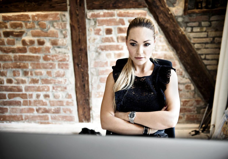 Blogger og tv-personlighed Mascha Vang fotograferet på sit kontor i København fredag den 25. september 2015.
