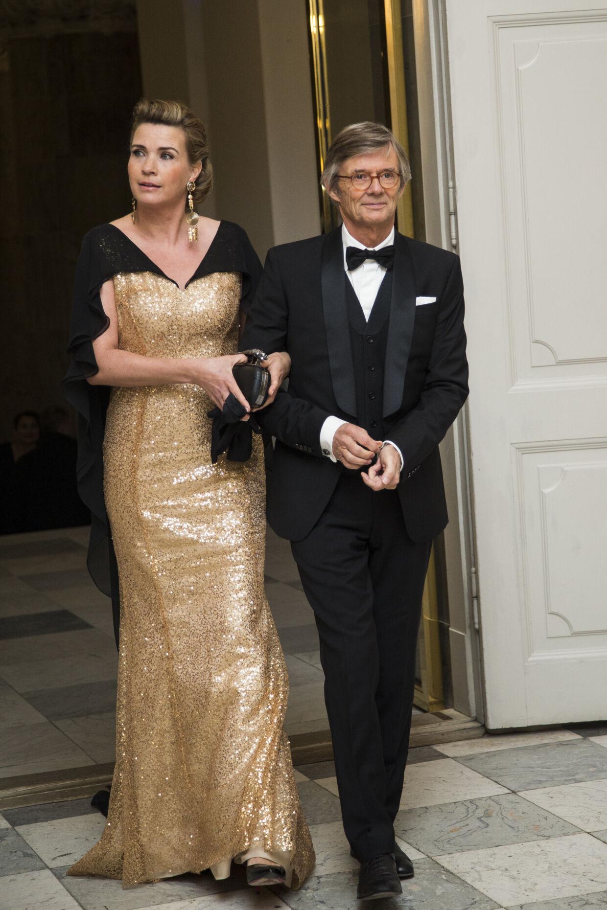 Filminstruktør Bille August og partner Sarah-Marie Maltha