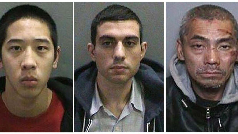 De tre fanger har været eftersøgt i hele Californien, efter at de flygtede fra et topsikret fængsel (Fra venstre: Jonathan Tieu, 20; Hossein Nayeri, 37; Bac Duong, 43.