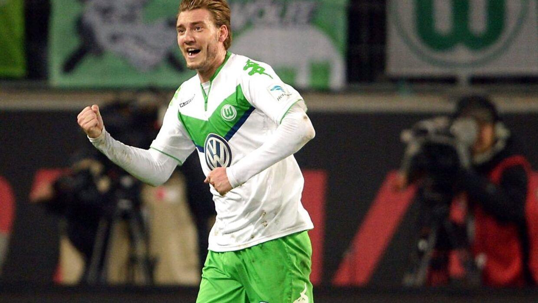 Nicklas Bendtner deltog i Wolfsburgs Mitarbeitertag.
