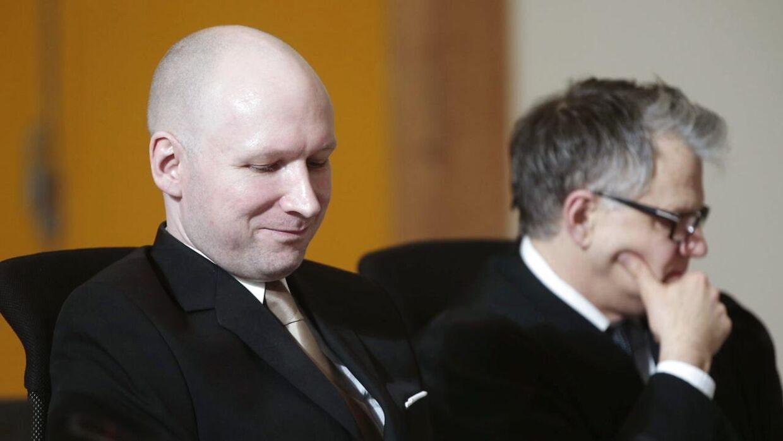 En psykiater fik angiveligt Anders Breivik til at rødme.