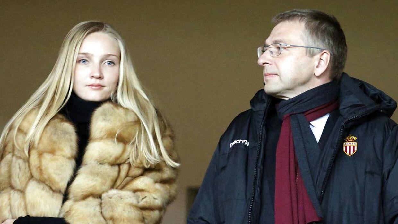 Dmitri Rybolovlev og hans datter Ekaterina Rybolovleva til en fodboldkamp i hans klub, AS Monaco.