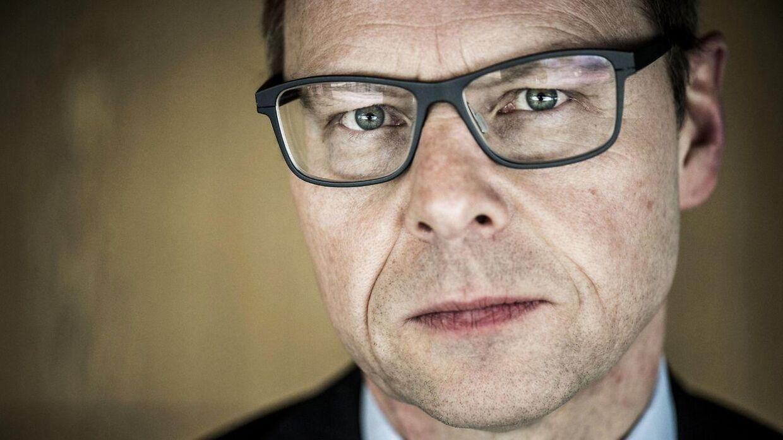 Portræt af Michael Rasmussen, koncernchef i Nykredit. Her fotograferet på firmaets hovesæde på Kalvebod Brygge i København.