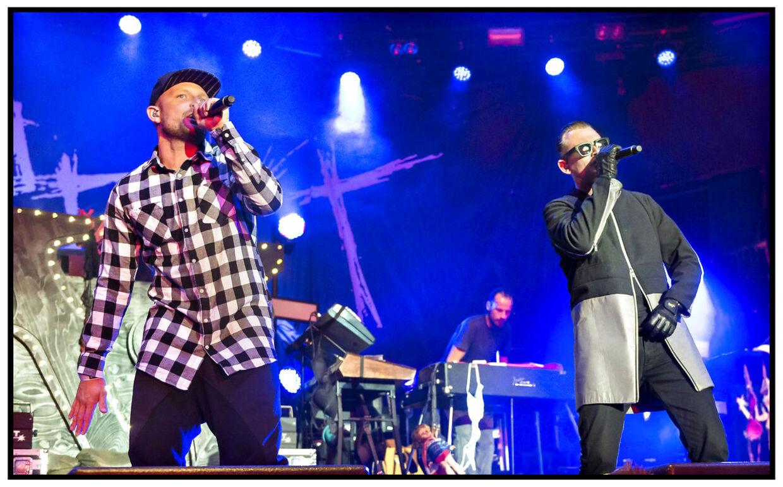 Arkiv: Fredagsrock 2015. Hip Hop gruppen Suspekt på scenen.