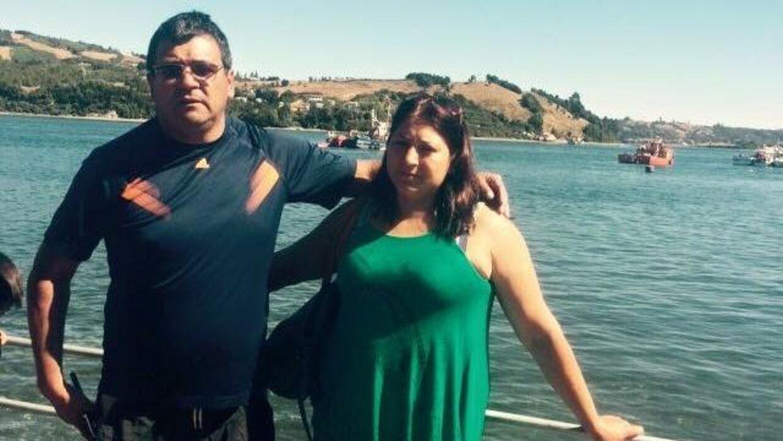 Eddy Lopez og hans kone Marjorie Oñate. Fotoet er taget, efter Eddy Lopez blev løsladt 30. april 2013 og derefter vendte hjem til sin familie i Chile.