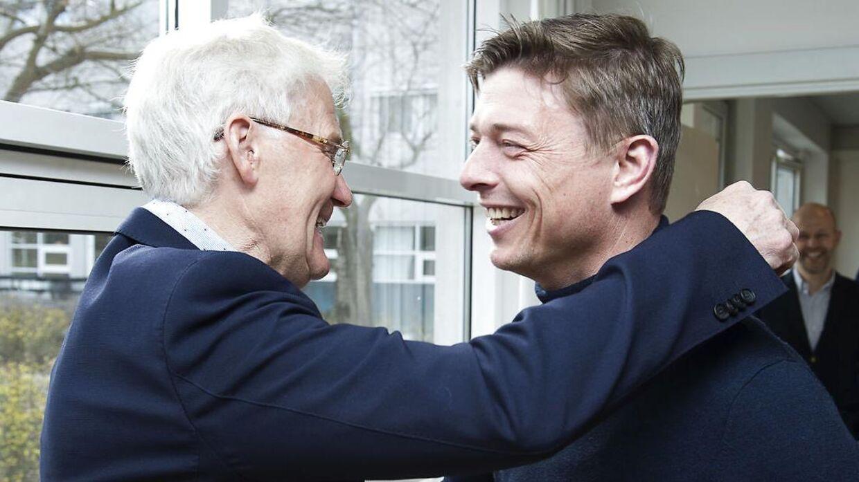 Morten Olsens med landsholdets nye assistenttræner, Jon Dahl Tomasson.