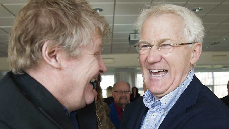 Morten Olsen med sin tidligere assistent Peter Bonde.