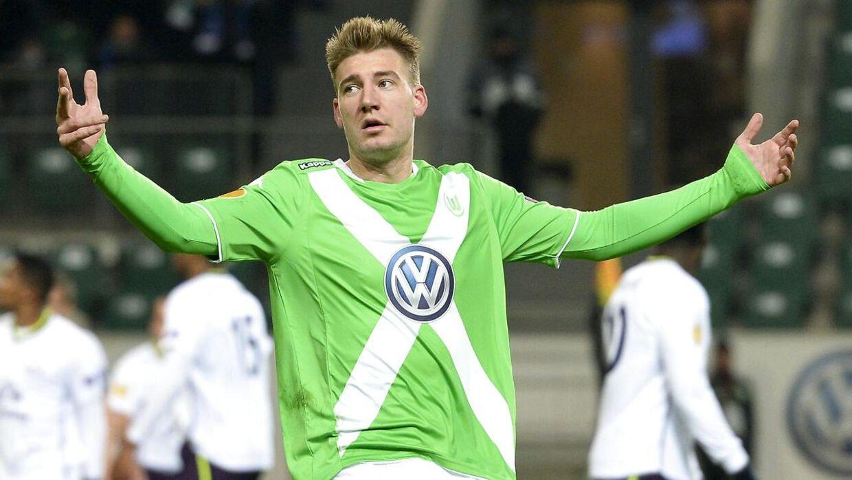 Nicklas Bendtner er for tiden henvist til at træne med sig selv i Wolfsburg efter sine uheldige episoder.