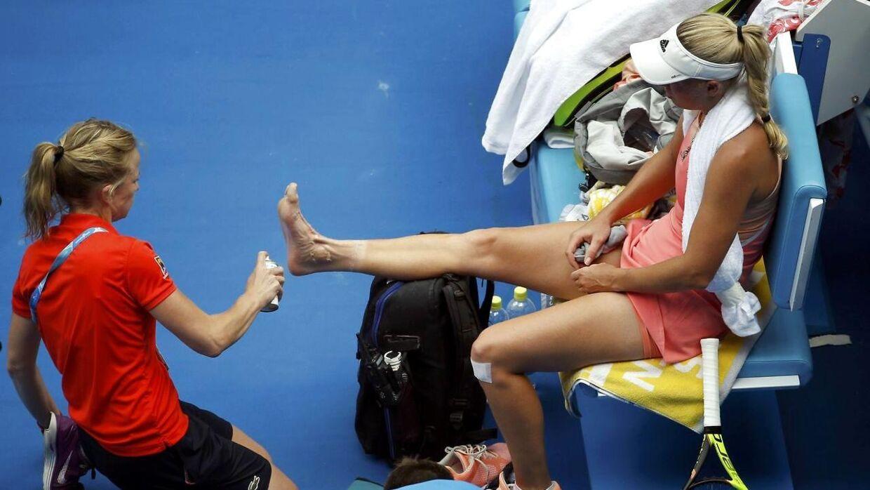 Caroline Wozniacki har i sin tenniskarriere ofte haft problemer med fødder og ankler.