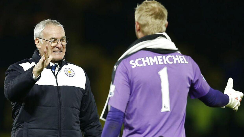 Claudio Ranieri og Kasper Schmeichel, på vej mod guld?