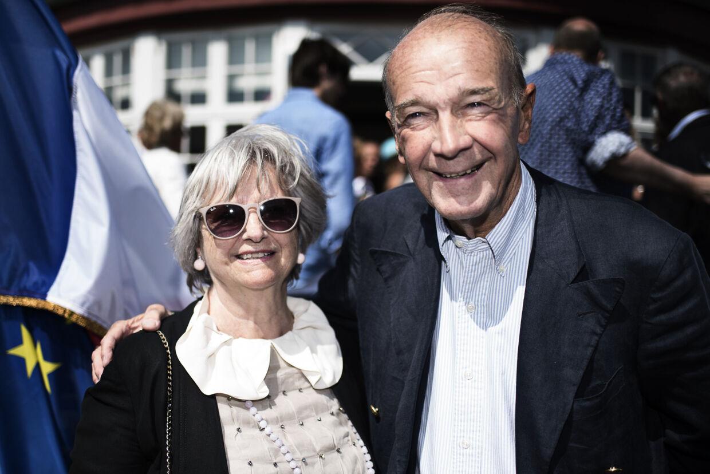 Auktionær Jesper Bruun Rasmussen med sin kone Birthe Bruun Rasmussen til Bastilledagen i Gammel Skagen den 14. juli 2015.
