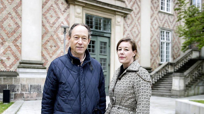 Grev Erik Danneskiold-Samsøe sammen med sin datter komtesse Erica Danneskiold-Samsøe,