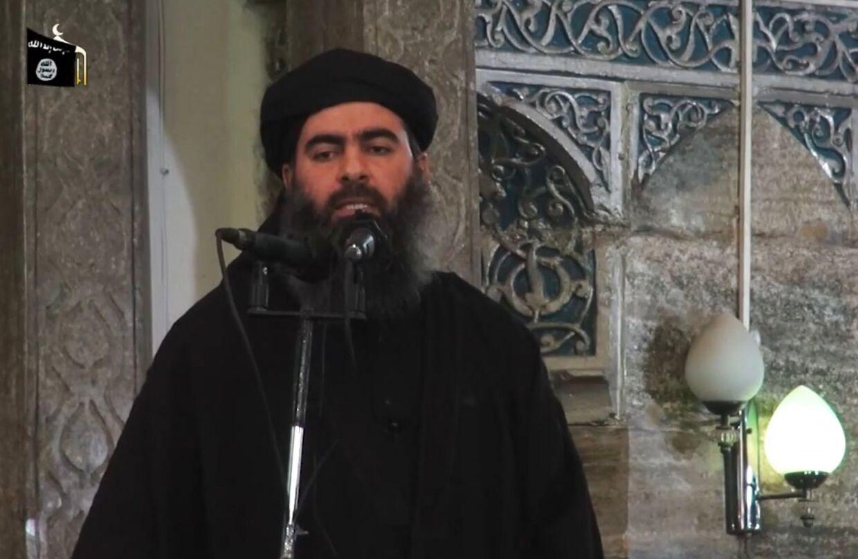 Billedet er fra 2014 og viser IS' leder Abu Bakr al-Baghdadi.