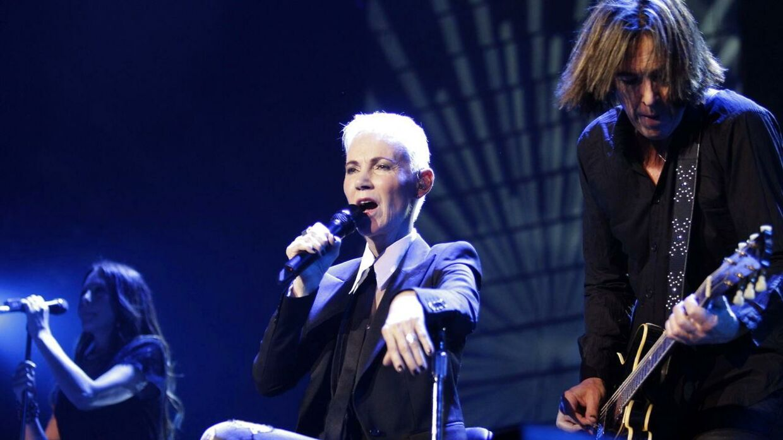 Her ses Roxette give koncert i Madrid i 2015.