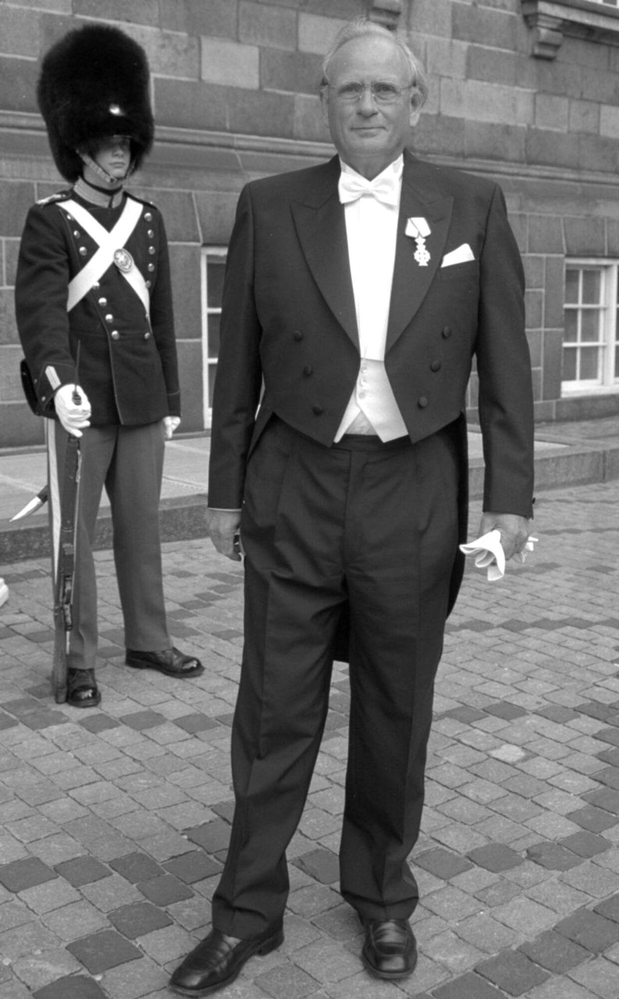 Ecco-sko-direktør Karl Toosbuy ses her, da han var til audiens hos dronningen.
