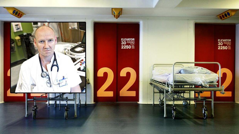 Ledende overlæge på Herlev Hospital, Peter Sommer Ulriksen, der er talsmand for de to sygehuses overlæger,forklarer, at flere læger har grædt i ren magteløshed over problemerne, det nye it-system er skyld i. Foto: Jens Nørgaard