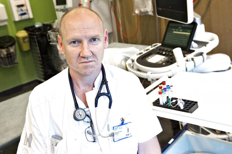 Overlæge Peter Sommer Ulriksen, der er formand for overlægerådet på Herlev, er dybt bekymret over, at 7500 bestillinger af blodprøver er forsvundet. Foto: Jens Nørgaard