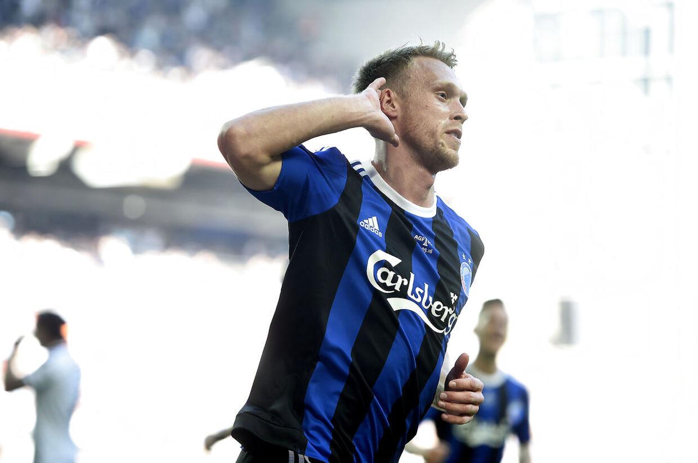 COP101. DBU Pokalfinale mellem FC København og AGF i Telia Parken Torsdag d. 5. maj 2016. Her ses Nicolai Jørgensen ved 1-0 målet.