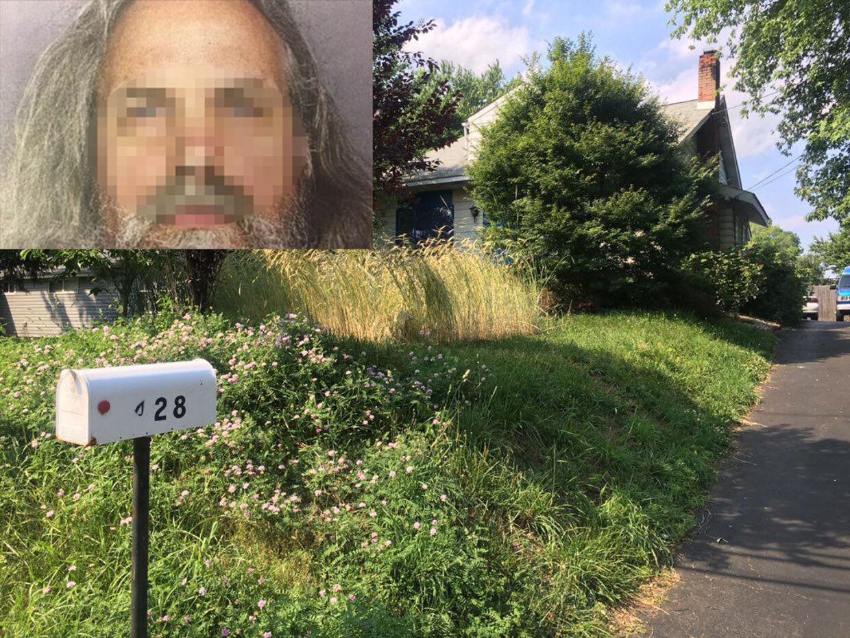 Det var i dette hus, den 51-årige mand holdt børnene fanget