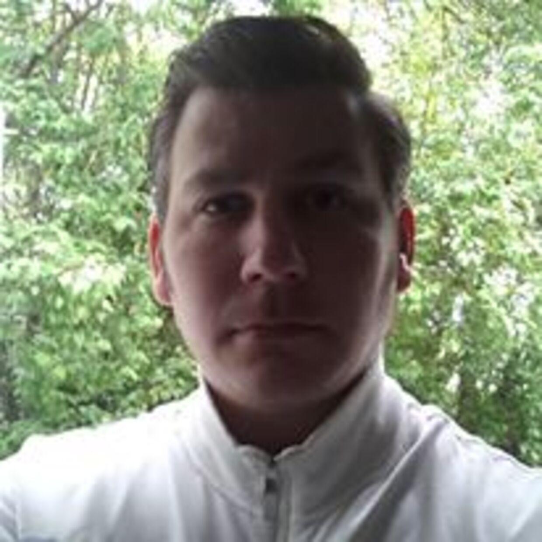 Magnus Eyðun Anders Norðtún i august 2014, hvor han var skilt fra Maria og flyttet ind på soldaterhjemmet Veteranbo. (Foto: privat)