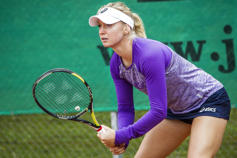 Julia Boserup er klar til anden runde i Wimbledons damesinglerække.