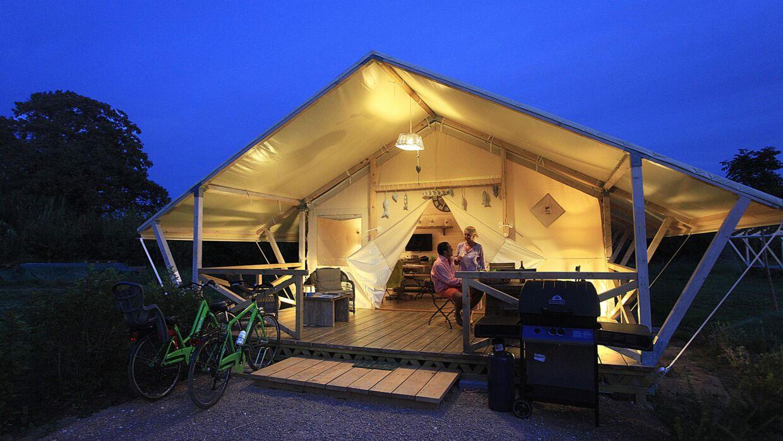 Det er mere feriehus end campingferie over forholdene på Podere Pianetti Glamping i Toscana i Italien.