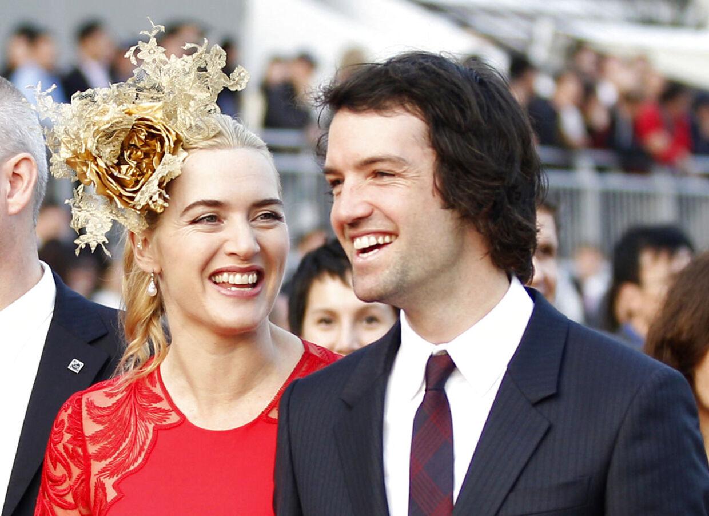 Kate Winslet med sin nye - og tredje - mand, Ned Rocknroll, som hun giftede sig med ved en hemmelig ceremoni for få uger siden. (Arkivfoto)