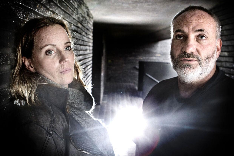 Kim Bodnia og Sofia Helin spiller hovedrollerne i det dansk-svenske tv-drama broen. Til BM Kultur