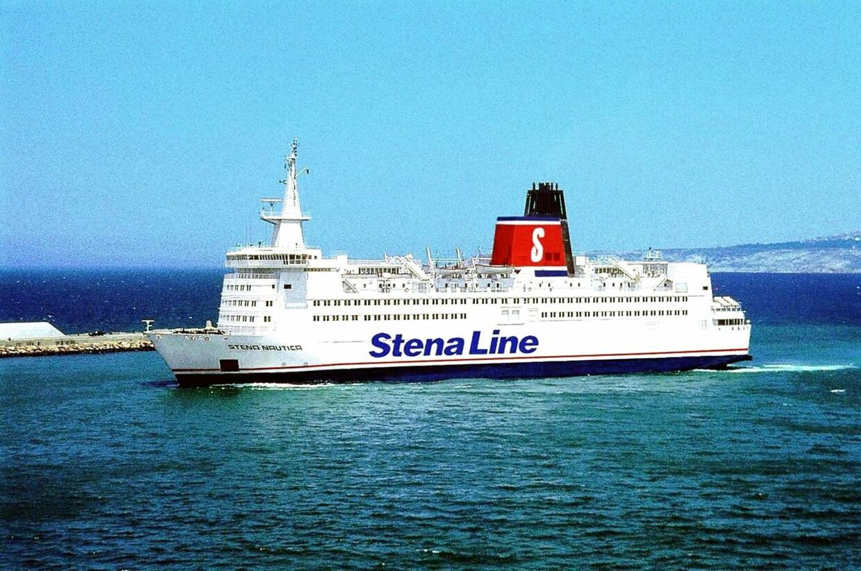 (FILES) Undated handout file picture of the Stena Nautica, a 135-meter passenger ferry of shipping company Stena Line. Nearly 130 people were evacuated from the Stena Nautica off Sweden ´s southwestern coast before dawn 16 February 2004 after the vessel collided with Joanna, a Jamaica-flagged small cargo ship, en route from Grenaa in Denmark to the Swedish port of Varberg. No injuries were reported as all 91 passengers and 37 crew aboard the Stena Nautica were transferred to other ships in the vicinity, according to officials. It is not yet known why the accident occurred. AFP PHOTO /PRESSENS BILD