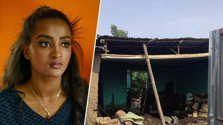 Amys mors hus i Etiopien er blevet skyllet væk i en stormflod, så nu er familien hjemløse.