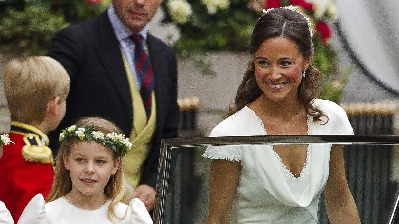 c7ba46b7c858 Pippa Middleton blev for få uger siden forlovet. Her ses hun ved sin  søsters bryllup