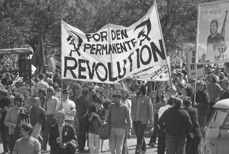 Pinsemarchen 1968: Modstanden mod Vietnam-krigen blev markeret af en blanding af fagforeningsfolk, trotskister og hippier.