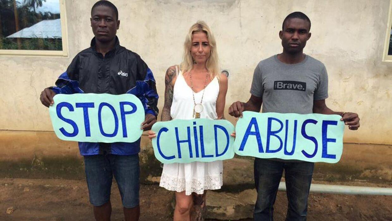 På billedet ses danske Anja Ringgren Lovén. Hun vil straffe de mennesker, der anklager børn for hekseri.