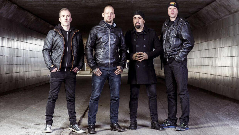 Det danske metalband Volbeat med den nye bassist Karspar Boye Larsen til venstre.