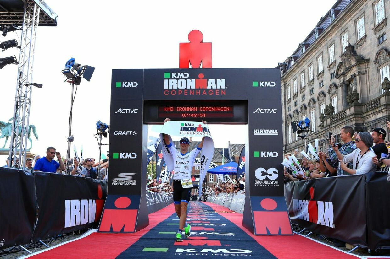 Det var Patrik Nilsson, der løb med sejren ved ironman i København - den såkaldte KMD Ironman Copenhagen. Free/Pressefoto Fra Kmd Ironman Copenhagen.