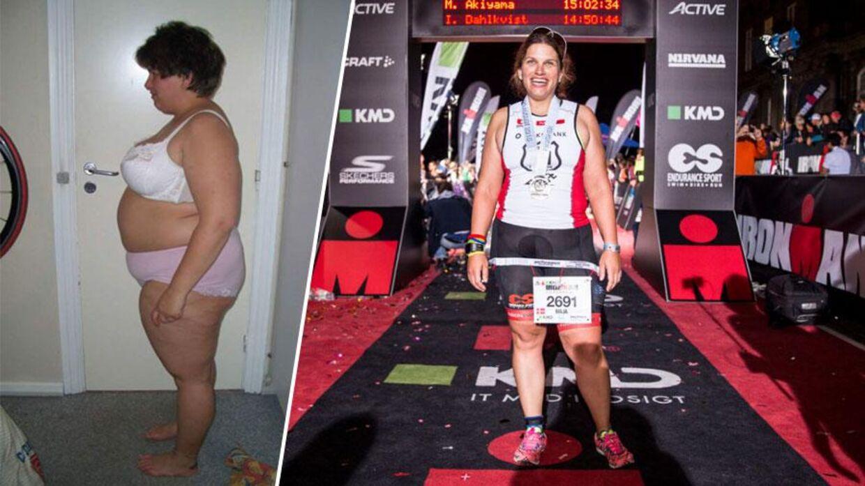 I 2010 vejede Maja Graae 122 kilo. I går stillede hun op til sin anden ironman.