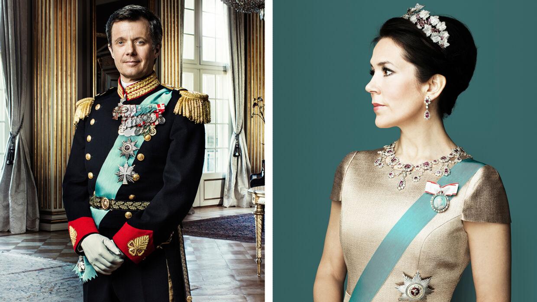 Kronprinsen og Kronprinsessen fotograferet af Marco Grob, der udstiller på Det Nationalhistoriske Museum på Frederiksborg Slot.