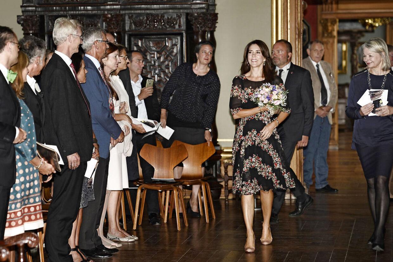 Kronprinsesse Mary deltog 25. august 2016 i åbningen af udstillingen 'Ikoniske Portrætter' af den schweizisk/amerikanske fotograf Marco Grob.