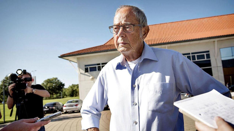78-årige Mogens Arlund foran Retten i Helsingør, hvor han modtog en dom på 50 dages betinget fængsel.