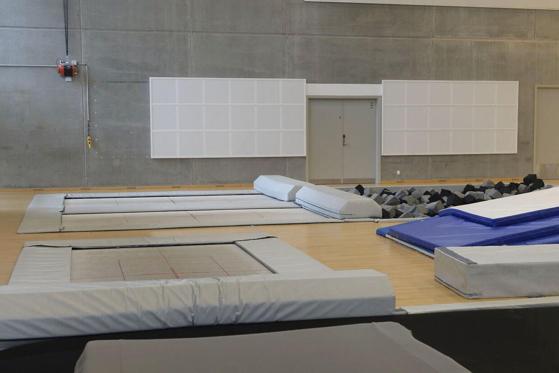 Det var her i Gyngemosehallen i Søborg, at Kronprinsen kom til skade.