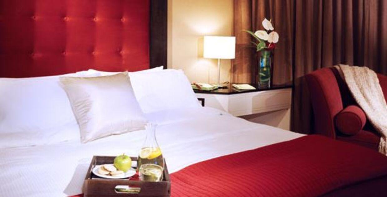 Hotelværelse på Metropolitan Hotel i Vancouver.
