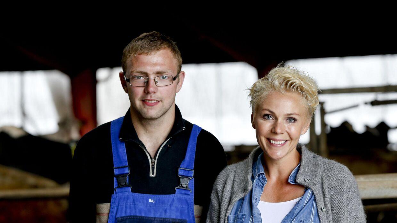 Her ses Lene Beier med Dennis fra programmet.