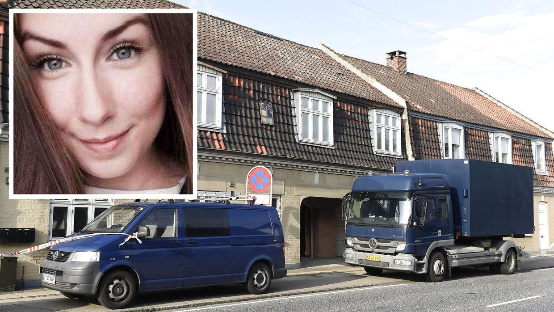 Politiet ransager en bolig på Tårnborgvej i Korsør i forbindelse med Emilie Meng-sagen