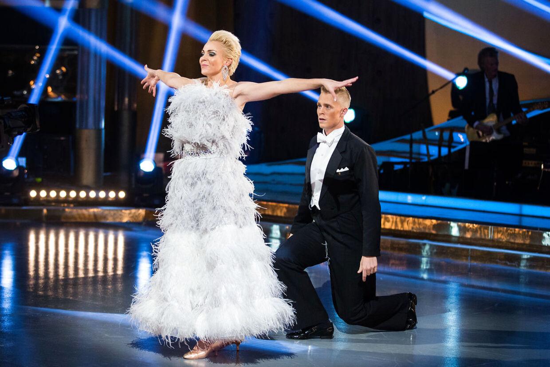 Lene Beier med dansepartner Frederik Nonnemann under årets udgave af TV 2-programmet 'Vild med Dans'.