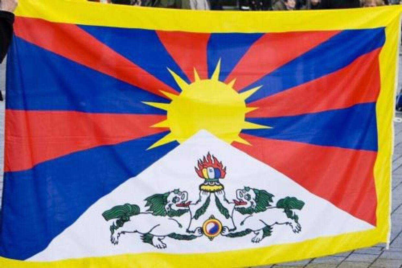 Politiet greb ind over for personer, der viftede med Tibets flag ved tre forskellige kinesiske besøg. Nu skal en kommission til bunds i sagen. Her ses det tibetanske flag. Arkivfoto. Free/Www.colourbox.com